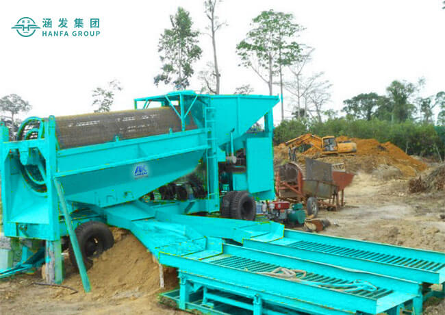 Mobile Gold Trommel Washing Processing Plant