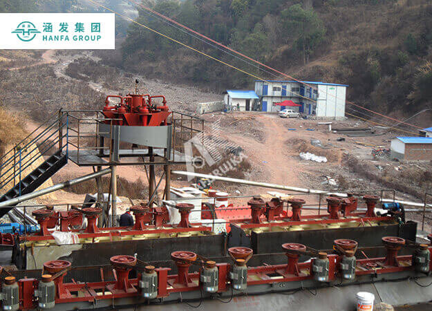 The technological process of antimony ore dressing