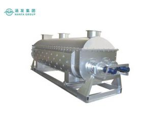 Hot air trough type paddle dryer